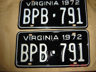 Picture of 1972 Virginia Car Pair #BPB 791