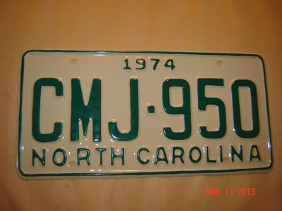 Picture of 1974 North Carolina Car #CMJ-950