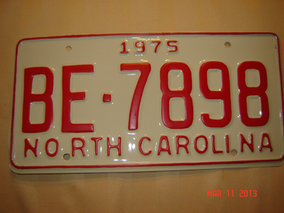 Picture of 1975 North Carolina Car #BE-7898