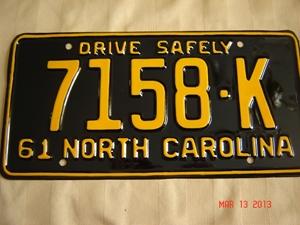 Picture of 1961 North Carolina Truck #7158-K