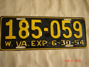 Picture of 1954 West Virginia Car #185-059