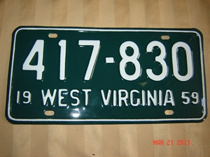 Picture of 1959 West Virginia Car #417-830