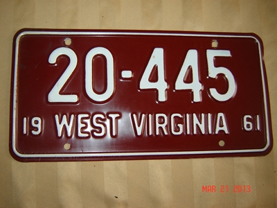 Picture of 1961 West Virginia Car #20-445