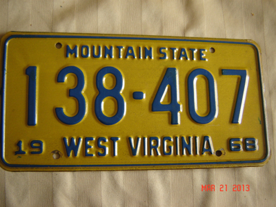 Picture of 1968 West Virginia Car #138-407