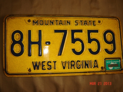 Picture of 1973 West Virginia Car #8H-7559