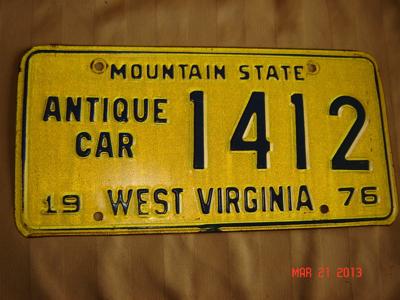 Picture of 1976 West Virginia Antique Car #1412