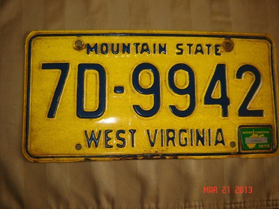 Picture of 1976 West Virginia Car #7D-9942
