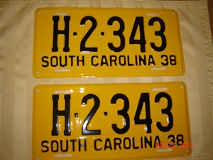 Picture of 1938 South Carolina Truck Pair #H-2-668