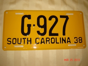 Picture of 1938 South Carolina Car #G-927