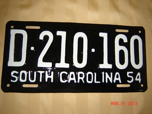 Picture of 1954 South Carolina Car #D210-160
