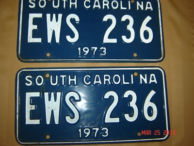 Picture of 1973 South Carolina Car Pair #EWS 236