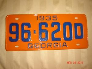 Picture of 1935 Georgia #96-620D