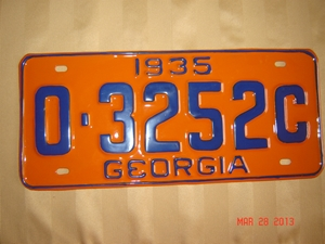 Picture of 1935 Georgia #O-3252C