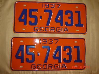 Picture of 1937 Georgia Pair #45-7431