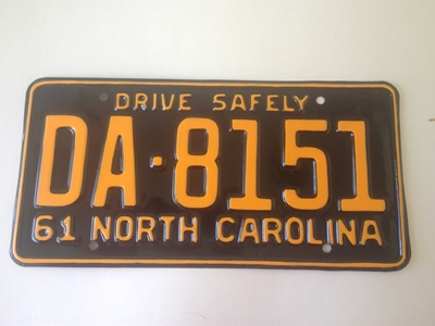 Picture of 1961 North Carolina Car #DA-8151