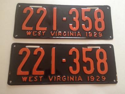 Picture of 1929 West Virginia Car Pair #221-358