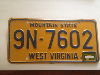 Picture of 1976 West Virginia Car #9N-7602