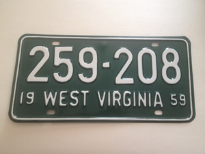 Picture of 1959 West Virginia Car #259-208
