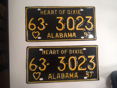 Picture of 1957 Alabama Pair #63-3-023