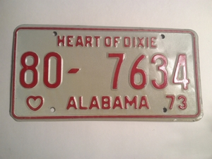 Picture of 1973 Alabama #80-7634