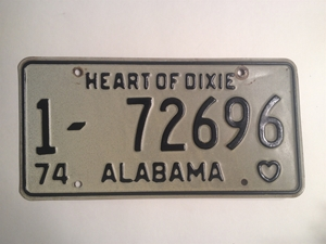 Picture of 1974 Alabama #1-72696