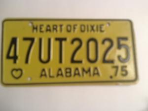 Picture of 1975 Alabama #47UT2025