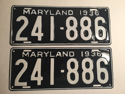 Picture of 1936 Maryland Pair #241-886