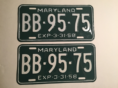 Picture of 1958 Maryland Pair #BB-95-75