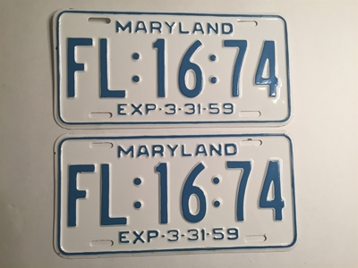 Picture of 1959 Maryland Pair #FL-16-74