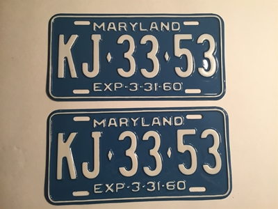 Picture of 1960 Maryland Pair #KJ-33-53