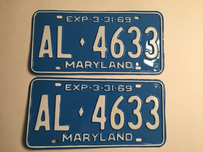 Picture of 1969 Maryland Pair #AL-4633