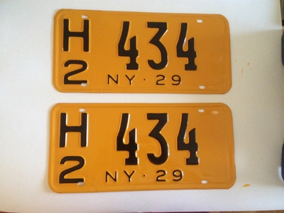 Picture of 1929 New York Pair #H2 434