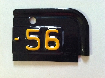 Picture of 1956 New York License Plate Tab