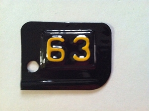 Picture of 1963 New York License Plate Tab