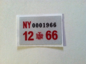 Picture of 1966 New York Registration Sticker