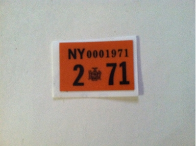 Picture of 1971 New York Registration Sticker