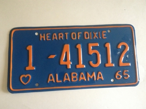 Picture of 1965 Alabama #1-41512