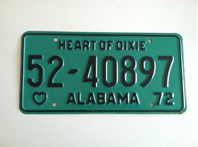 Picture of 1972 Alabama #52-40897
