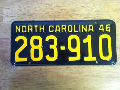 Picture of 1946 North Carolina Car 283-910