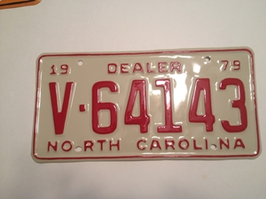Picture of 1979 North Carolina Dealer #V-64143