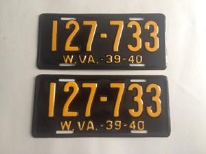 Picture of 1939-40 West Virginia Pair #127-733