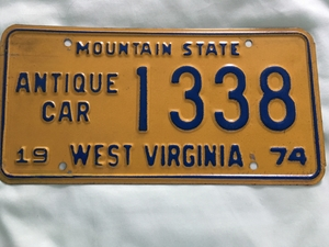 Picture of 1974 West Virginia #1338 antique car