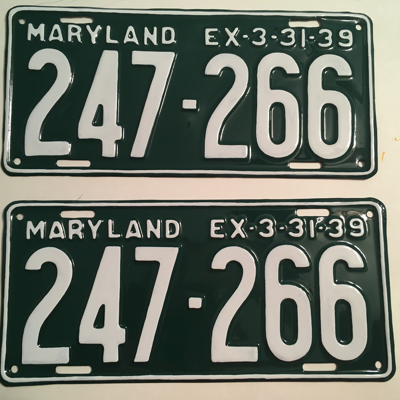 Picture of 1939 Maryland Car Pair #247-266