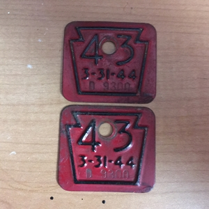Picture of 1943 Pennsylvania Tabs Pair #D9300