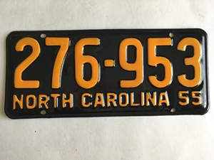 Picture of 1955 North Carolina Car #276-953