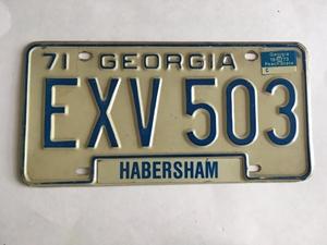 Picture of 1971 Georgia #EXV-503