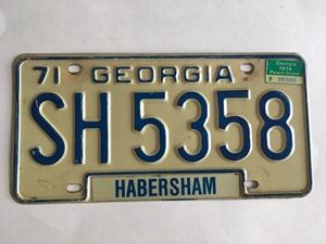 Picture of 1971 Georgia #SH-5358