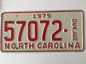 Picture of 1975 North Carolina Dealer #57072