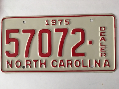 Picture of 1975 North Carolina Dealer #57072