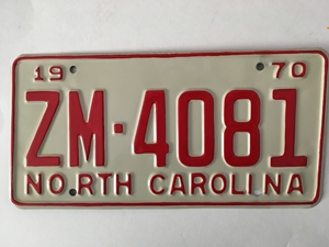 Picture of 1970 North Carolina Car #ZM-4071